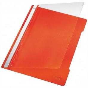 LEITZ Schnellhefter 4191 A4 PVC orange mit transparentem Vorderdeckel