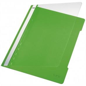 LEITZ Schnellhefter 4191 A4 PVC hellgrün mit transparentem Vorderdeckel