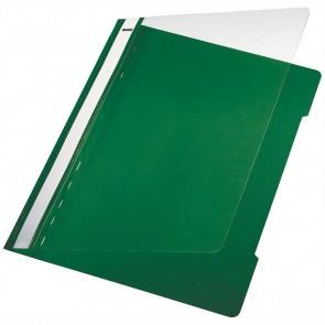 LEITZ Schnellhefter 4191 A4 PVC grün mit transparentem Vorderdeckel