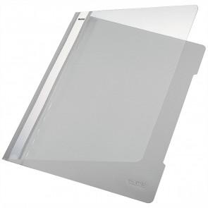 LEITZ Schnellhefter 4191 A4 PVC grau mit transparentem Vorderdeckel