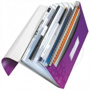 LEITZ Fächermappe 4589 WOW A4 PP 6 Fächer violet metallic