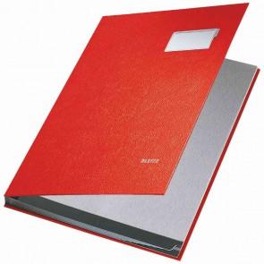 LEITZ Unterschriftsmappe 5701 10 Fächer PP rot