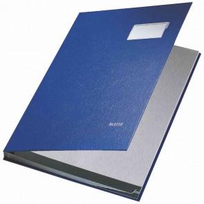 LEITZ Unterschriftsmappe 5701 10 Fächer PP blau