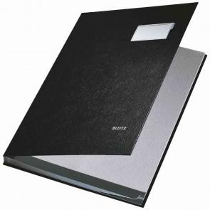 LEITZ Unterschriftsmappe 5701 10 Fächer PP schwarz
