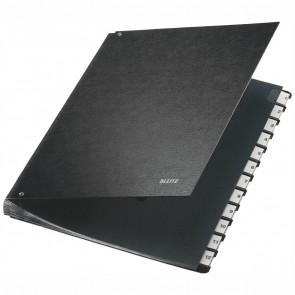 LEITZ Pultordner 5812 1-12 Hartpappe schwarz