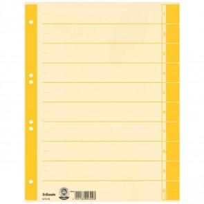ESSELTE Trennblätter 621018 A4 chamois Tab gelb 230g 100 Stück