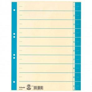 ESSELTE Trennblätter 621020 A4 chamois Tab hellblau 230g 100 Stück