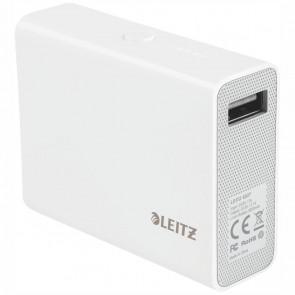 LEITZ Powerbank / USB Ladegerät Complete 6000mAh weiß hochglänzend