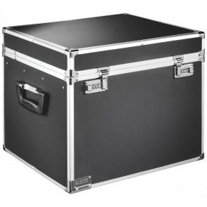 LEITZ Box für Hängemappe 6714 Aluminium schwarz für 30 Mappen