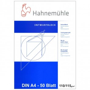 HAHNEMÜHLE Transparentpapier Block A4 110/115g 50 Blatt