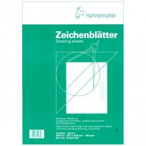 HAHNEMÜHLE TZ-Blätter A3 20 Blatt mit Rahmen + Schriftfeld