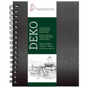 HAHNEMÜHLE Skizzenbuch A5 mit Spirale 140g naturweiss 124 Seiten