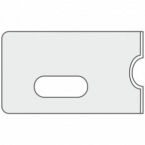 Scheckkarten Hülle 58 x 88mm mit Langloch matt-transparent