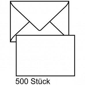 MAILMEDIA Briefumschlag C6 ohne Fenster naßklebend weiß 500 Stück mit Seidenfutter