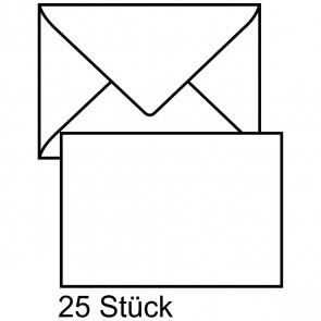 MAILMEDIA Briefumschlag C6 ohne Fenster naßklebend weiß 25 Stück