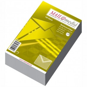 MAILMEDIA Briefumschlag B6 ohne Fenster naßklebend weiß 100 Stück