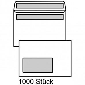 MAILMEDIA Briefumschlag C6 mit Fenster selbstklebend weiß 1000 Stück