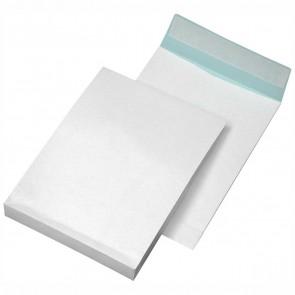 MAILMEDIA Faltentasche B4 40mm Falte 140g weiß fadenverstärkt