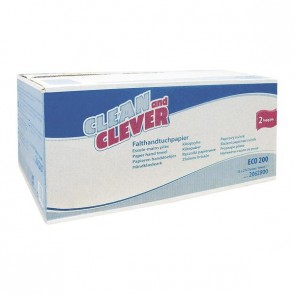 CLEAN and CLEVER Papierhandtuch Smartline 2-lagig 24,4 x 23cm weiß 4000 Stück