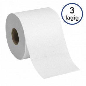 Toilettenpapier 3-lagig weich weiß 250 Blatt 8 Rollen in Packung
