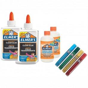 ELMERS Slime Starter Kit 8-teiliges Set Klebstoff + Aktivator + Farben