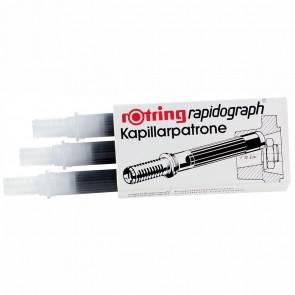 ROTRING Kapillarpatrone für Rapidograph 3 Stück schwarz R590517