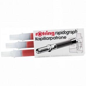 ROTRING Kapillarpatrone für Rapidograph 3 Stück rot R590503