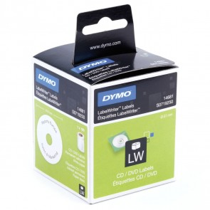 DYMO CD/DVD Etiketten 14681  wei 57mm f. Labelwriter