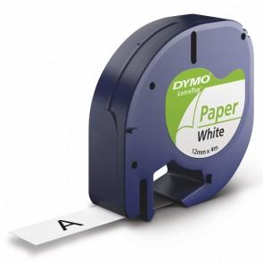 DYMO LetraTag Schriftband 91220 12mm x 4m weiß Papier