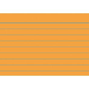 RNK Karteikarten A8 liniert orange 100 Stück