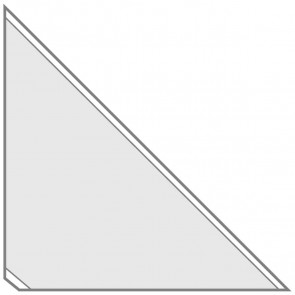 VELOFLEX Dreiecktasche 2210 10x10cm selbstklebend transparent 100 Stück