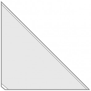 VELOFLEX Dreiecktasche 2217 17x17cm selbstklebend transparent 8 Stück