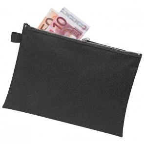 VELOFLEX Banktasche 2725 A5 schwarz aus reißfestem Nylongewebe mit Reißverschluß