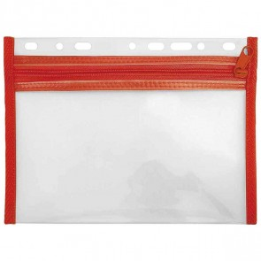 VELOFLEX VELOBAG XXS A5 rot Reißverschluß Tasche zum Abheften