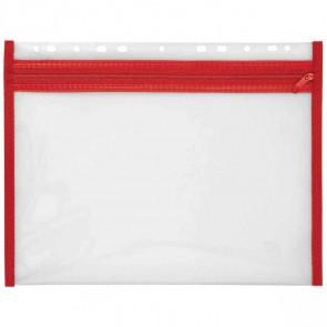 VELOFLEX VELOBAG XS A4 rot Reißverschluß Tasche zum Abheften