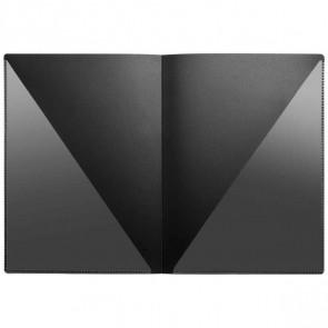 VELOFLEX Urkundenmappe / Angebotsmappe A4 schwarz mit 2 Innentaschen