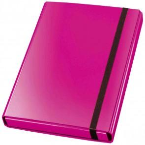 VELOFLEX Heftbox Velocolor 44433 A4 mit Gummizug 40mm pink