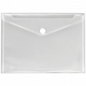 VELOFLEX Dokumententasche A4 mit Klettverschluß transparent