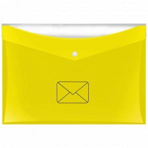 VELOFLEX Postmappe DIN A4 4530 gelb mit zusätzlicher Tasche