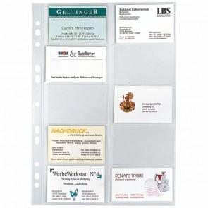 VELOFLEX Visitenkartenhülle A4 5341 PP 10 Bogen a 20 Fächer