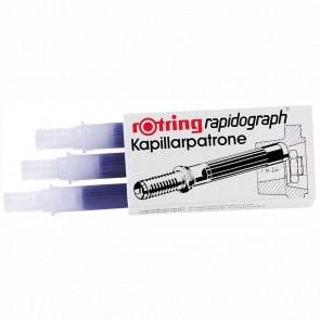 ROTRING Kapillarpatrone für Rapidograph 3 Stück blau R590509