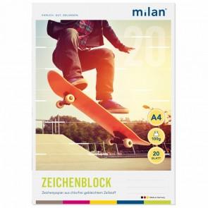 MILAN Zeichenblock 564/20 A4 20 Blatt 2seitig perforiert 100g