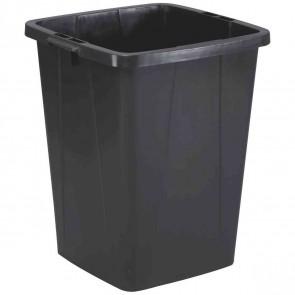 DURABLE Abfallbehälter DURABIN 90 rechteckig 90 Liter schwarz
