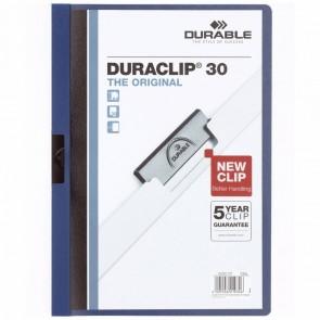 DURABLE Klemmappe DURACLIP A4 2200 bis 30 Blatt dunkelblau