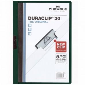 DURABLE Klemmappe DURACLIP A4 2200 bis 30 Blatt dunkelgrün