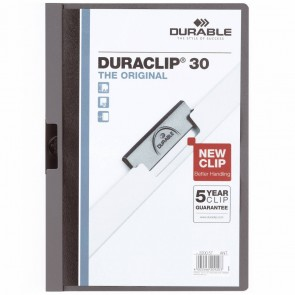 DURABLE Klemmappe DURACLIP A4 2200 bis 30 Blatt anthrazit