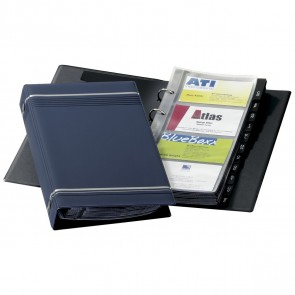 DURABLE Visitenkartenringbuch A5 VISIFIX 2385 dunkelblau für 200 Karten