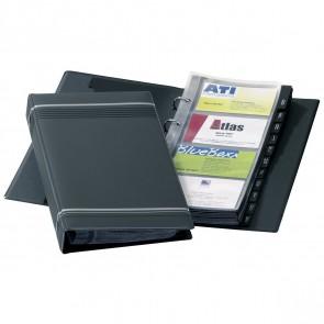 DURABLE Visitenkartenringbuch A5 VISIFIX 2385 grau für 200 Karten