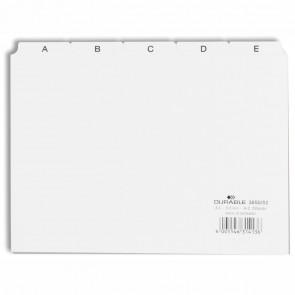 DURABLE Karteiregister 3650 A5 quer A-Z Kunststoff weiß