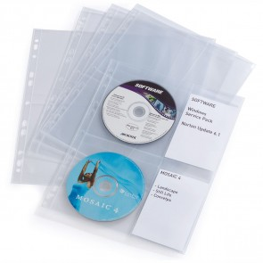DURABLE CD DVD Hüllen 5238 A4 transparent 10 Stück für 4 CDs